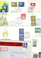 Bund 14 Belege/FDC, viel vor 1960, < 1 E-Brief > interessante Zusammenstellung