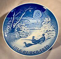 """B&G-Bing & Grondahl-1970 Christmas Plate-""""Pheasants in the Snow""""-Denmark"""