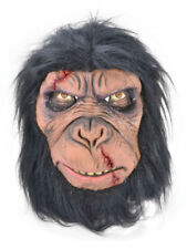 Zombie Chimp Monkey Gorilla Ape Latex Mask Fancy Dress Halloween Party Accessory