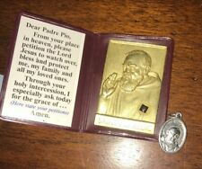 Authentic Second Class Saint Padre Pio Relic w/ Small Medal, Catholic, Christian