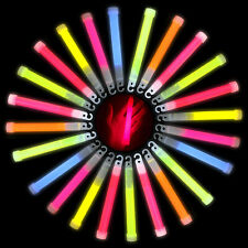 Glow Sticks Bracelets Necklaces Neon Colors for Party Favors Disco Rave 6 Inches