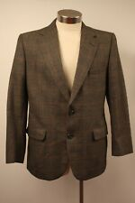 MEDIUM ORIGINAL VINTAGE  MENS DARK GREY TWEED JACKET.