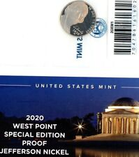 2020-W Cameo Proof West Point Mint Jefferson Nickel with Envelope & COA