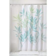 "InterDesign 35650 Leaves Fabric Shower Curtain - Standard, 72"" x 72"", Blue/Green"