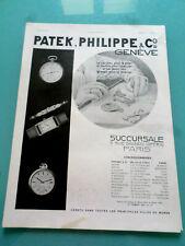 publicité ancienne MONTRE PATEK,PHILIPPE (X1)