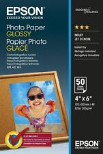 Epson (10cm X 15cm) 200g/m2 brillant Papier photo (Blanc) 1 Pack of 50