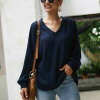 Knit Shirt Knitwear Sweater Casual Loose Jumper Womens Tops Long Sleeve Pullover