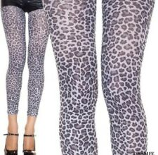 FOOTLESS TIGHTS GREY LEOPARD ANIMAL PRINT QUALITY FASHION- AUSSIE SELLER