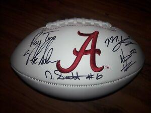 Alabama Crimson Tide Nick Saban Mac Jones Devonta Smith Autographed Football