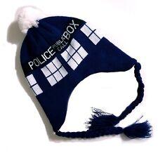 a926dc04d6c Dr. Who Beanie Laplander Hat Tardis Memorabilia Blue Police Call Box 2009  Gift