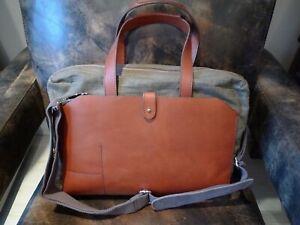 Suit Supply Leather Canvas Portfolio Bag £250