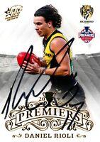 ✺Signed✺ 2019 RICHMOND TIGERS AFL Premiers Card DANIEL RIOLI