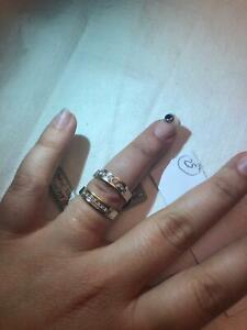 coppia anello fede fedina oro bianco giallo bicolore 18k diamanti brillanti veri