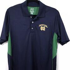 Notre Dame Fighting Irish Polo Shirt Pro Edge Navy Blue Green Mens Size M