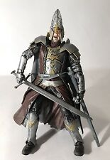 "Lord Of The Rings FOTR King Elendil 6"" Action Figure Armor Crown ToyBiz Complete"
