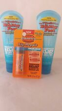 O'Keeffe's Healthy Feet Foot Cream tube  2 pack + cooling lip repair