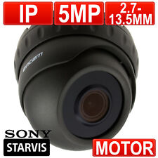 encam CCTV IP 5MP MOTORISED VARIFOCAL SONY Starvis Starlight Dome Camera Grey