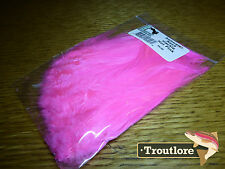 HOT PINK SALTWATER NECK HACKLE HARELINE DUBBIN NEW SALT FLY TYING FEATHERS
