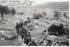 HERMAN ZERGER Signed Photo WW II AUTOGRAPH COA WORLD WAR 2 DIADEM POW EUROPEAN