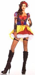 Leg Avenue Rebel Snow White Sexy Halloween Costume Cosplay Dress Headband S M L