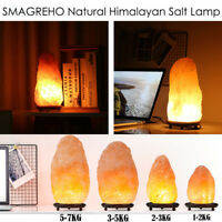 2018 Himalayan Salt Lamp Natural Crystal Rock Shape Dimmer Switch Night Light US