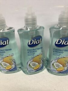 Dial Coconut Water & Mango Hand Soap with Moisturizer - 7.5oz (pack of 3)