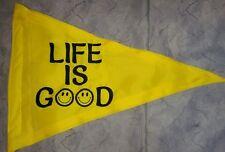 Custom Triangle Life Is Good Safety Flag 4 ATV UTV dirtbike Jeep Dune