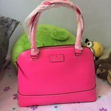 NWT Kate Spade WKRU1431 Leather Wellesley Rachelle Pinksaphre Satchel Should Bag