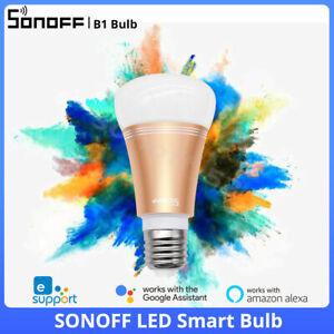 SONOFF RGB LED Smart Wifi Wireless Colour Light Bulb Form Alexa & Google Support
