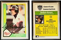 Jeff Richardson Signed 1990 CMC #12 Card Buffalo Bisons Auto Autograph
