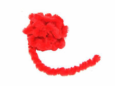 Chenille Pipe Cleaner Braid with a Flexible Yarn Core (Red) L: 2m x W: 10mm