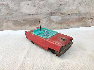 Vintage MR. 1596 Swift Swallow Bird Car Mascot Windup Tin Toy car Working