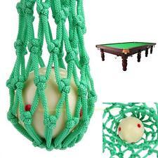 6pcs Billiards Pool Snooker Table Nylon Mesh Net Bags Pockets Cue Club Kit Green