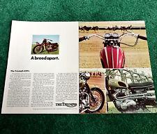 ORIGINAL 1970 TRIUMPH MOTORCYCLE MAGAZINE AD BONNEVILLE T120R TIGER-650 TROPHY