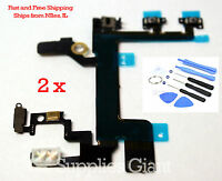 HQ Power Mute Volume Button Switch Connector Flex Cable iphone 5S LOT 2