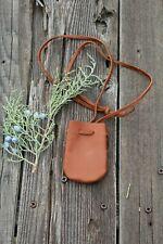 Leather medicine bag , Leather neck pouch , Crystal bag