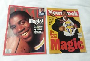 1996 Time Magazine Newsweek MAGIC JOHNSON LA Lakers No Mailing Label Residue