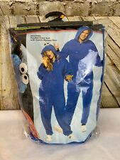 Sesame Street Cookie Monster  Costume Adult Blue  Size Small/Medium In Package