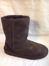 Ladies Brown Ankle Real Sheep Skin Boots Size 4