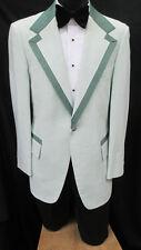 42L Vintage Green Tuxedo Jacket Theater Retro 1970's Disco Halloween Costume 42L