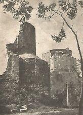 D0070 Valle di Susa - Sagra di San Michele - Stampa d'epoca - 1925 old print