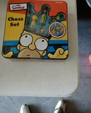 The Simpsons Chess Set 100% Complete Cardinal Tin 2000 Collection