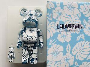 Leilow Hawaii Medicom Bearbrick 400%+100% Set Clear Blue Version