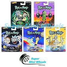 Hot Wheels 2020 Premium Pop Culture S Case Rick&Morty Set of 5 Cars【In-Stock】