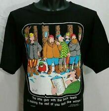 Vintage 80s Lumberjack Logging T Shirt Men L Beaver Logger Graphic Tee