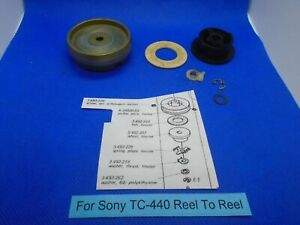For Sony TC-440 Reel To Reel Pulley Assembly & Related Parts For Motor Used