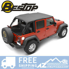 Bestop Header Bikini Safari Top - Black for 2010-2018 Jeep Wrangler JK 4 Door