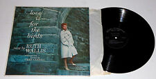 "RUTH WALLIS Autographed to ""Boo"" - Love is For The Birds LP torch singer caberet"