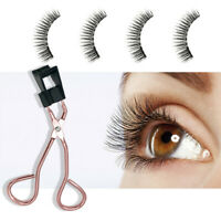 Reusable 3D Magnetic Eyelashes Magnet False Eye Lashes Extension Curler Clip Set