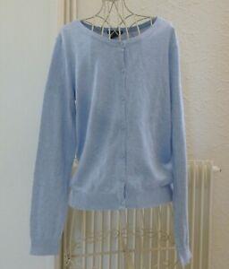 Cardigan gilet coton bleu ciel H&M taille S Tbe Taille S